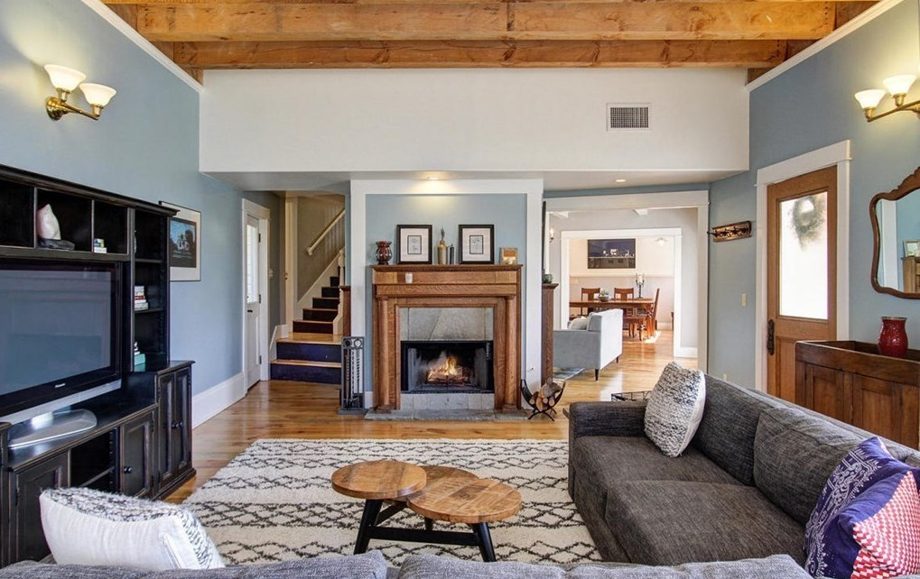 Fireplace Design acme fireplace : Elegant English Colonial on a Secluded Street in South Pasadena ...