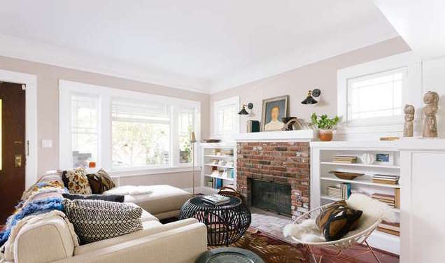 ... Sun Drenched And Welcoming, Featuring An Open Floor Plan, Whitewashed  Built Ins, A Cozy Brick Fireplace, Hardwood Floors, And Craftsman Style  Windows.