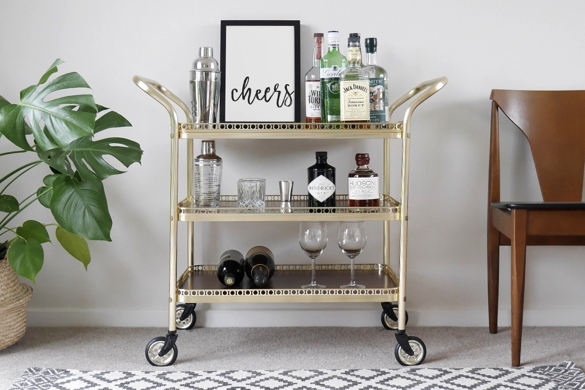 Entertain At Your New Home In Style With A Bar Cart